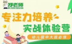 郑老师教育济南郑老师教育幼儿园中大班专注力培养实战体